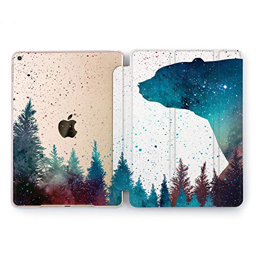 Wonder Wild Forest Bear Sky iPad 5th 6th Generation Tablet Nature Mini 1 2 3 4 Air 2 Pro 10.5 12.9 2018 2017 9.7 inch Smart Cover Trees Plants Space Wood Design Case Forest Green Nature Beauty]()