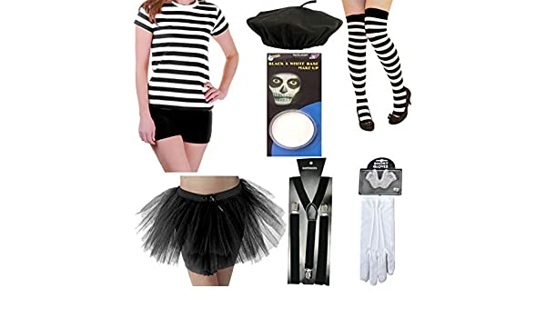 Islander Fashions Wime Mime Artist Costume Adultos French Street ...