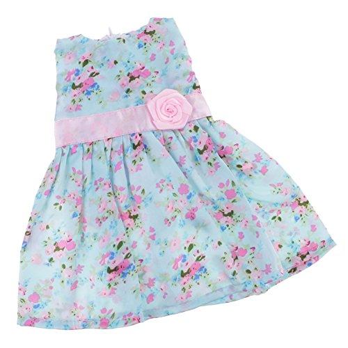7c1c7547a934d PanDaDa Vêtement de Poupée Robe Floral Multicolore en Tissu Accessoires  Pour 18 Pouces American Girl Dolls