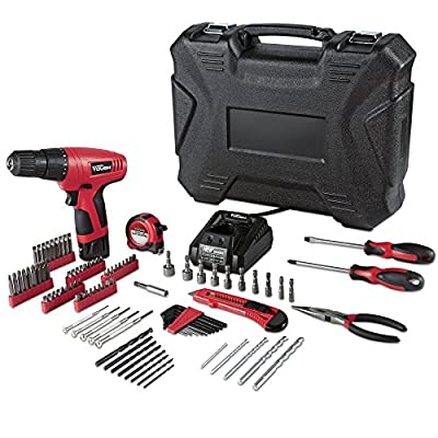 12Volt Cordless Long-Lasting Lithium-Ion Battery Drill Driver Set with 100 pc Project Kit and 18-position clutch this Power Tools it also a Battery powered Electric Screwdriver