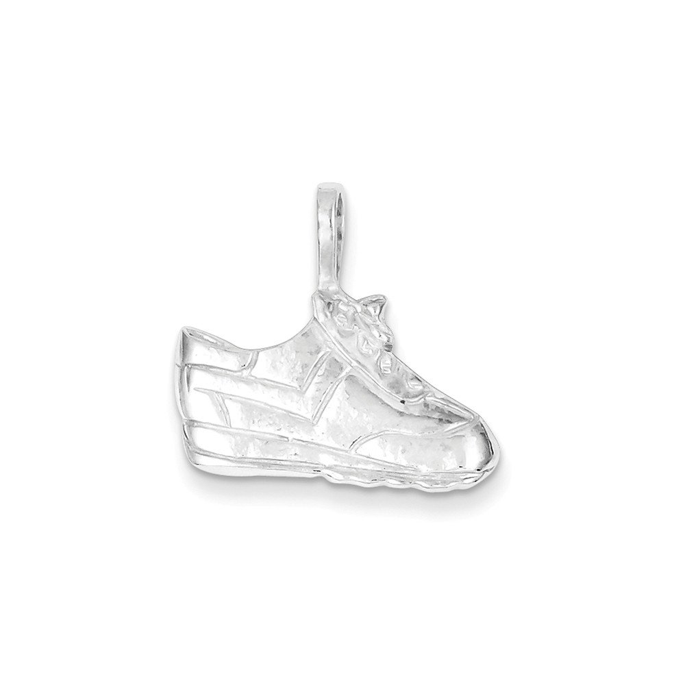 18 Mireval Sterling Silver Tennis Shoe Charm on a Sterling Silver Carded Box Chain Necklace
