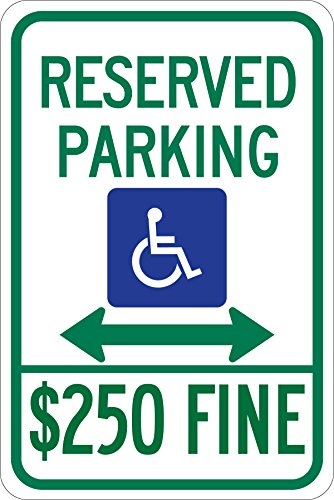 (Brady 123889 Handicapped Parking Sign, Legend