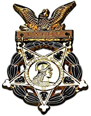 wootall US Army Medal of Honor Replica Badge-WW2 USA USSR Military Badge Medal Collection Order of The Patriotic War Award Souvenir Lapel Pins Copy