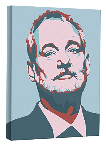"JP London MCNV2240 Bill Murray Two Warhol Baby Blue Chive 2"" Thick Heavyweight Gallery Wrap Canvas, 2' x 3' from JP London"
