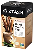 Stash Tea Decaf Vanilla Chai Tea 18 Count Tea Bags in Foil (Pack of 6) Individual Decaffeinated Black Tea Bags for Use in Teapots Mugs or Cups, Brew Hot Tea or Iced Tea