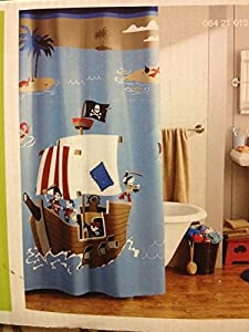 circo pirate bath mat circo pirate shower curtain home amp kitchen 10604