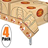 Toys : 4 Pack Basketball Table cover/Basketball Theme Tablecloth Party Supplies/Ideal for Birthday parties, Basketball party