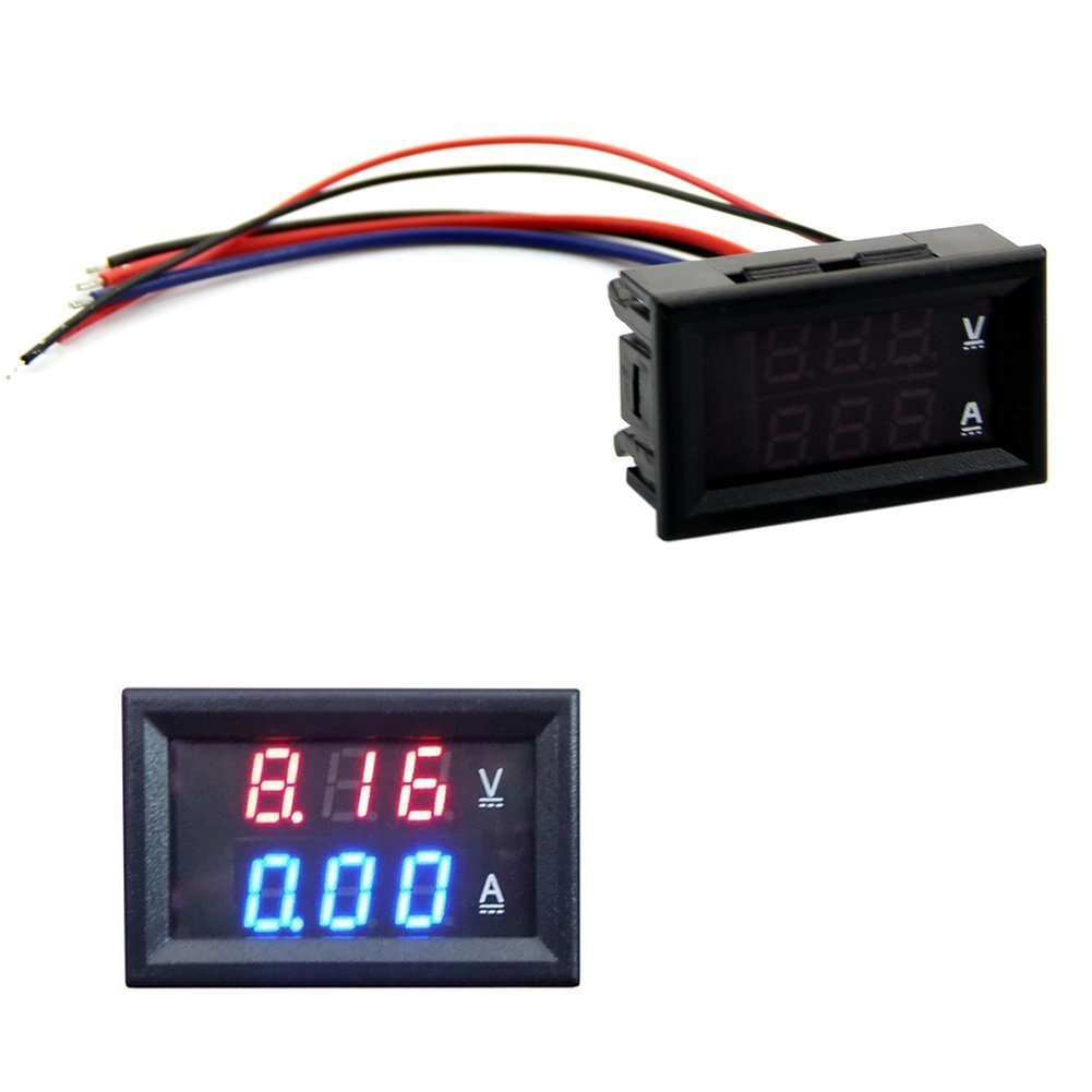 Heroneo Dc 100v 10a Voltmeter Ammeter Blue Red Led Amp Dual Digital Volt Meter Gauge Amazon Co Uk Business Industry Science
