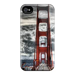 Kimmith Perfect Tpu Case For Iphone 4/4s/ Anti-scratch Protector Case (wonderful Golden Gate Bridge Hdr)