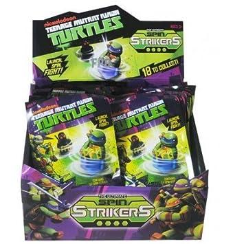 Expositor 24 Sobres sorpresa Tortugas Ninjas Spin Strikers - The Ultimate
