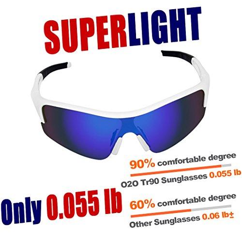 O2O Polarized Sports Sunglasses Wrap Around UV400 Protection for Men Women Teens Youth