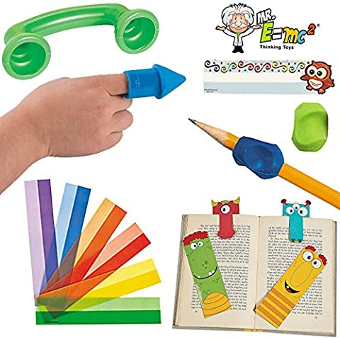 14 Pc Reading Games and Aids for Kids; Preschool - 2nd Grade Tools for Beginning Readers & Writers (Starting Montessori School)