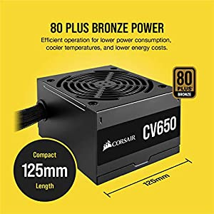 CORSAIR CV Series™ CV650-650 Watt Power Supply