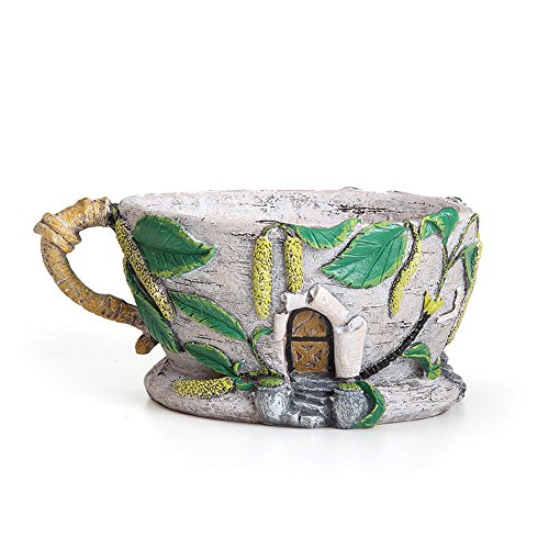 Miniature Fairy Garden Birch Catkin Teacup Planter