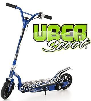 100 W 24 V UBER Scoot niños scooter eléctrico 20,32 cm - hasta ruedas 10mph Azul azul: Amazon.es: Deportes y aire libre