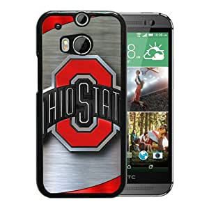 Popular And Unique Custom Designed Case For HTC ONE M8 With Ncaa Big Ten Conference Football Ohio State Buckeyes 9 Black Phone Case