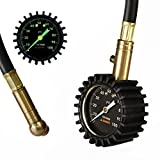 "Summit Tools Heavy Duty Tire Pressure Gauge with Hold Valve (0-100 PSI) – ANSI Certified Accuracy with 2"" Glow Dial for Car Truck and Bike"