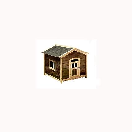 Lijin pet house Medio carbonizado Verde sólido Perrera caseta carbonizada al Aire Libre Caja de Arena