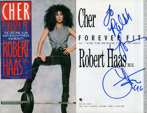 CHER Hand Signed Book: Forever Fit: The Lifetime Plan for Health, Fitness & Beauty - UACC RD#289