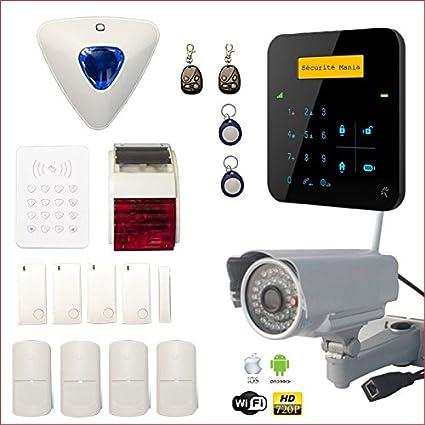 Alarma Casa inalámbrico A9 GSM con sirena interior y ...