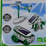 6-in-1 Learning Education solar robot Kit Educational Solar Power Kits Anwing Build Your Own Science Toy Boat Fan Car Robot Power Moving Dog