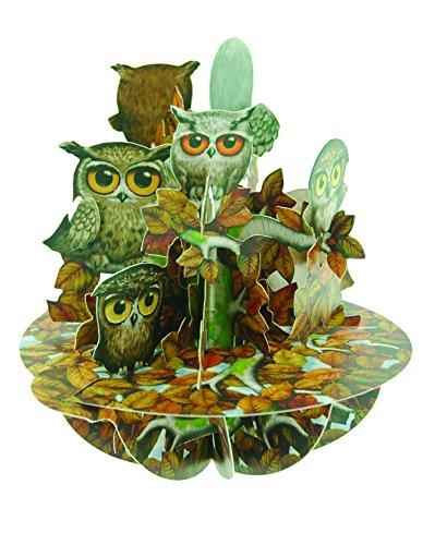 Santoro Pirouettes 3D Pop Up Card, Parliament of Owls