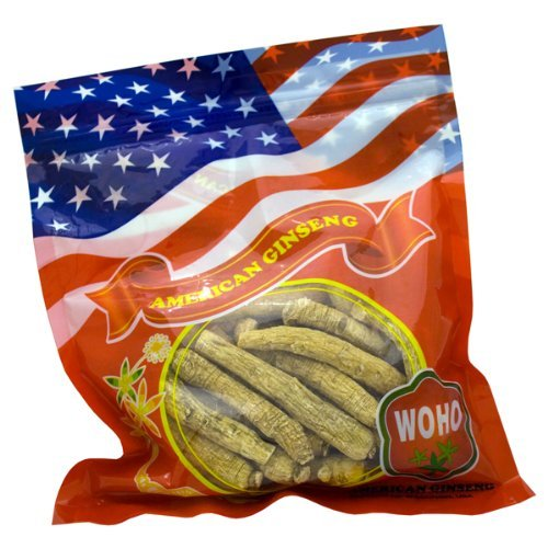 WOHO American Ginseng #102.8 Long Medium Roots 8 Oz bag