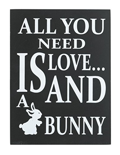 JennyGems Wooden Sign All You Need Is Love A Bunny - Bunny Rabbit Home Decor Collection -