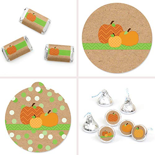 Big Dot of Happiness Pumpkin Patch - Fall & Thanksgiving Party Decorations Favor Kit - Party Stickers & Tags - 172 pcs