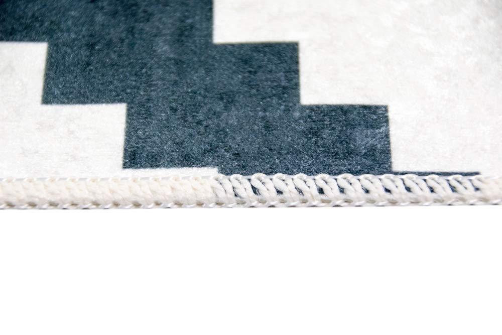 Carpetia Waschbarer Teppich Print Teppich Küchenteppich schwarz skandinavisches Muster Muster Muster Größe 80 x 300 cm 857982