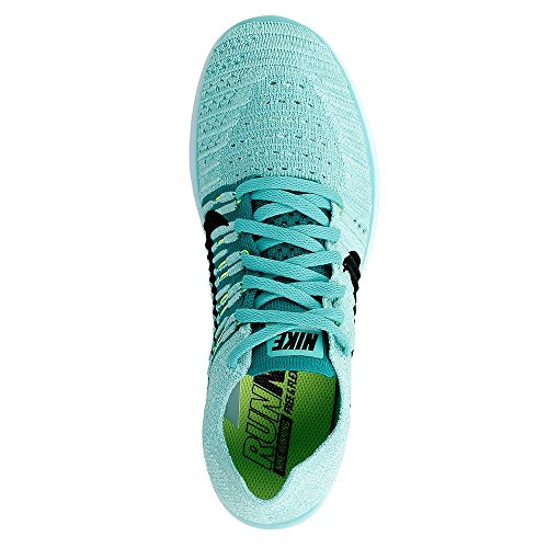 Nike Damen Free Rn Flyknit Laufschuhe Türkis (hyper Turquoise/black/volt/teal)