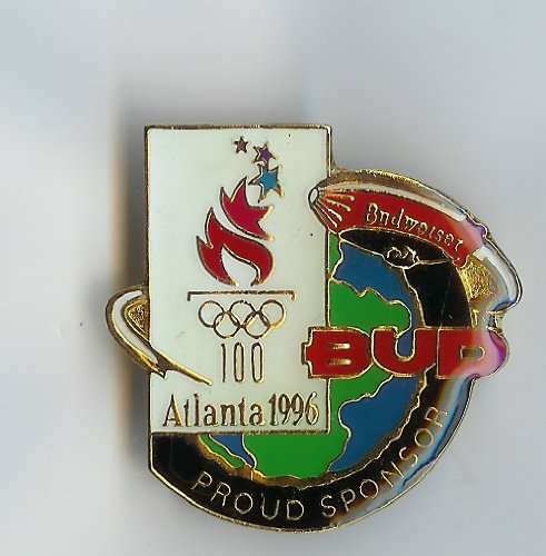 - Budweiser Atlanta Olympic 1996 5 Rings Pin (Budweiser)
