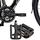 iHomeGarden Mountain Bike Pedals - Road Bike Flat Platform Pedals - 9/16 Inch Universal Bicycle Pedals for BMX/MTB Bike, Mini Bike, Kids Bike