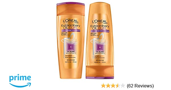 47ea1cd62 Amazon.com   L Oreal Paris Extraordinary Oil Curls Shampoo and Conditioner  Set 12.6 Ounces Each Packaging May Vary   Beauty
