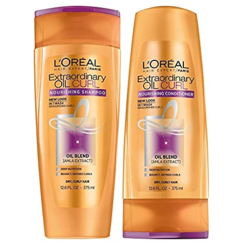 LOreal Paris Extraordinary Oil Curls Shampoo and Conditioner Set 12.6 Ounces Each Packaging May Vary