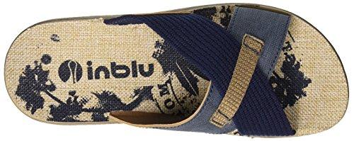 INBLU Men's Varano Flip Flops Blu (Blu) LW1SilxuX