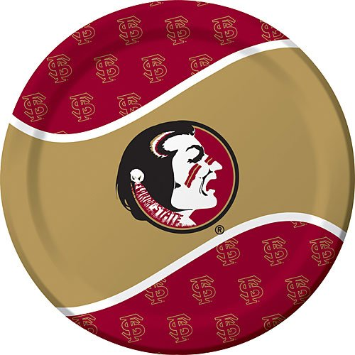 8-Count Round Dinner Paper Plates, Florida State (Costume Made From Household Items)