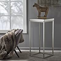 Calioppe Industrial Mirrored Side Table