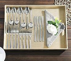 Amazon.com: Home Basics 20 piezas Juego de cubiertos, acero ...