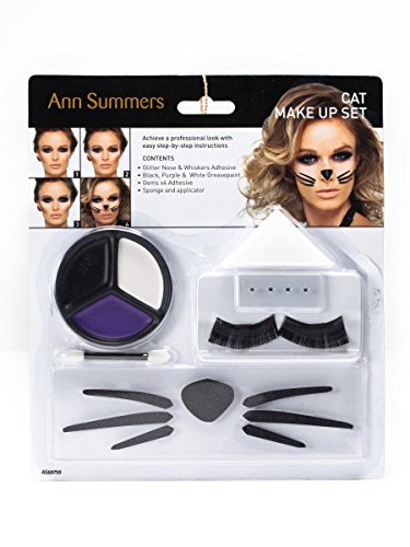 Ann Summers Womens Cat Make Up Set Glitter Nose Whiskers Adhesive Halloween by Ann Summers (Whiskers Cat Halloween)