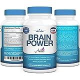 Premium Nootropics Brain Power Vitamin Supplement w/ Supreme Ginkgo Biloba & St. John's Wort Complex to Support Mental Clarity, Focus, Memory & More by Aviano Botanicals - 60 Dietary Capsules/ Bottle
