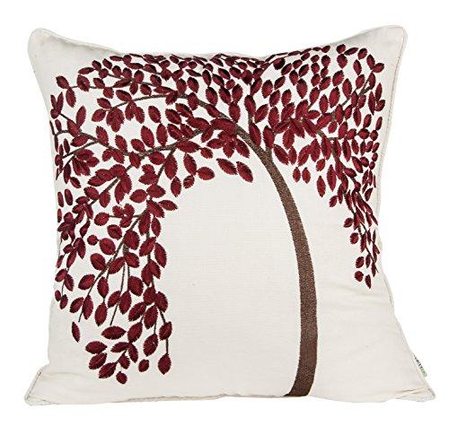 "BLUETTEK® 18"" X 18"" Embroidered Cotton Linen Decorative Thr"