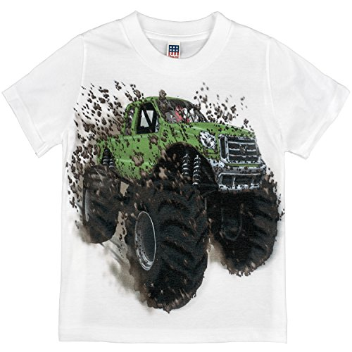 Shirts-That-Go-Little-Boys-Big-Green-Monster-Truck-T-Shirt