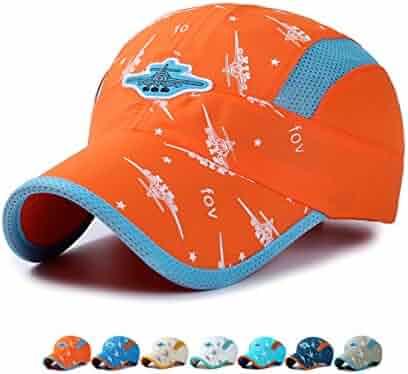 b43bb6429e3513 Wristbands LLmoway Kids Lightweight Quick Dry Sports Sun Hat UPF50 Mesh Baseball  Cap Boys