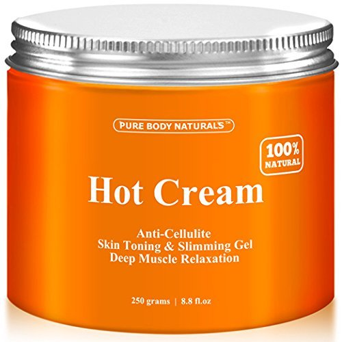 Crème anti-cellulite & Relaxation musculaire crème énorme 8,8 oz, 87 naturelle 100 % bio - Anti Cellulite traitement crème Gel chaud, entreprises peau, Slims & réduit l'aspect gras - Muscle Rub crème, Muscle Massager