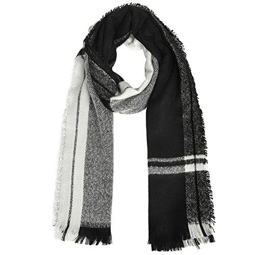 Winter And Man Vbiger Black Shawl Warm Woman Due Scarf C7wxxqYB