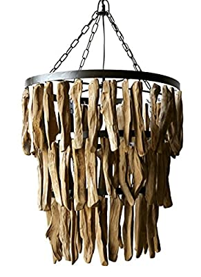 "Creative Co-Op Driftwood Chandelier, 19.75"" Round by 20"" Height"