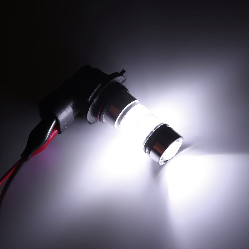 Mesllin 20SMD haute puissance DRL diurne feux dentra/înement lampe de lumi/ère blanc 2-pack H1 100W LED ampoules de brouillard
