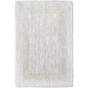 Cotton Craft Reversible Step Out Bath Mat Rug Set 30x48 White, 100% Pure  Cotton
