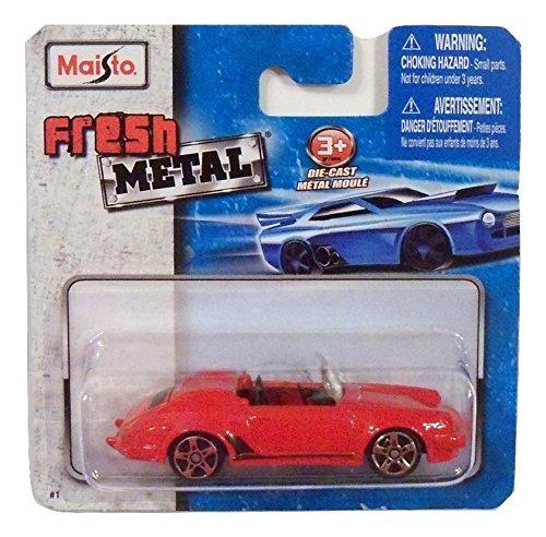 Maisto Fresh Metal Die-Cast Vehicles ~ Porsche 911 Speedster Convertible (Red) ()